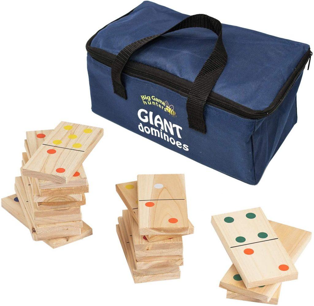 Jeux en bois dominos géants
